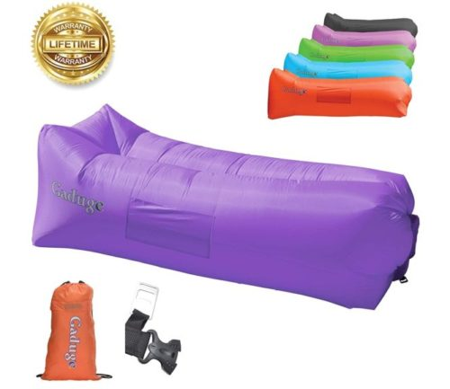 15.Giant Inflatable Lounger Chair by Gaduge - Hangout Sofa in 8 Fun Colors! Waterproof Inflatable Couch Bed for Indoor, Outdoor, Pool, Beach, Camping and More!...