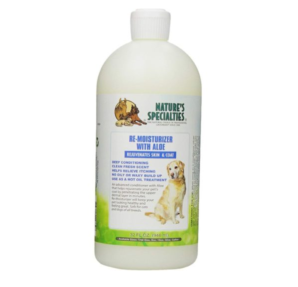 15.Nature's Specialties Aloe Remoisturizer Pet Conditioner, 32-Ounce