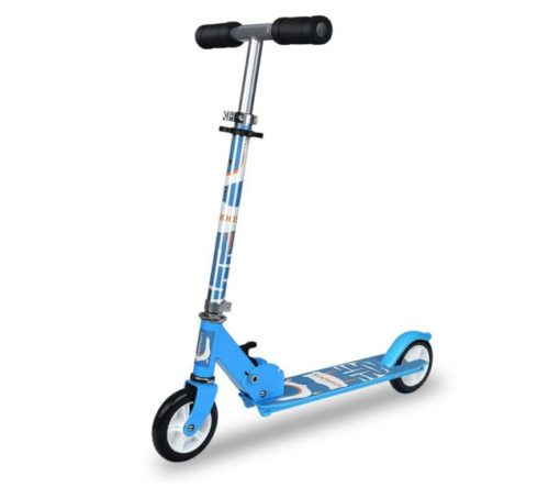 15.UHINOOS Kick Scooter for Boys and Girls 3-11 Years Old Tree Adjustable Lever Height Easy Folding Kids Scooter with PVC Wheels(Blue)