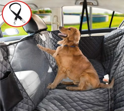 15.Vailge Dog Seat Cover for Back Seat, 100% Waterproof Dog Car Seat Covers with Mesh Window, Scratch Proof Nonslip Dog Car Hammock, Car Seat Covers for Dogs