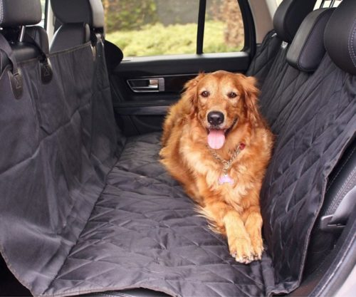 2.BarksBar Pet Car Seat Cover with Seat Anchors for Cars, Trucks and SUV's, Water Proof and Non-Slip Backing Regular, Black