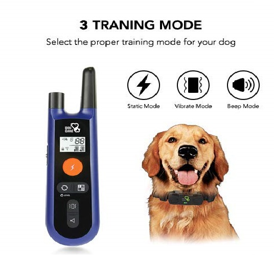 2.DOG CARE Dog Training Collar - Upgrated Dog Shock Collar w 3 Training Modes, Beep, Vibration and Shock, 100% Waterproof Training Collar, Up to 1000Ft Remote.