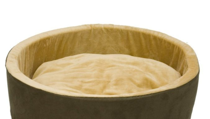 2.K&H Pet Products Thermo-Kitty Heated Pet Bed, Mocha, Small