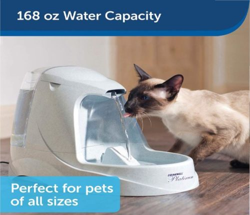 2.PetSafe Drinkwell Platinum Dog and Cat Water Fountain, Automatic Drinking Fountain for Pets, 168 oz