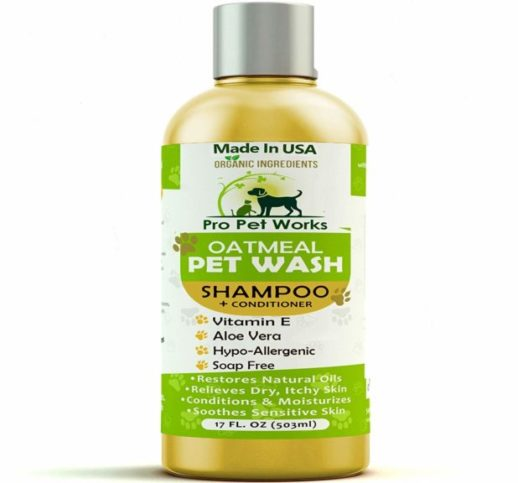 2.Pro Pet Works All Natural Oatmeal Dog Shampoo + Conditioner for Dogs, Cats and Small Animals-Hypoallergenic and Soap Free Blend with Aloe for Allergies &...