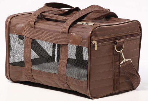 2.Sherpa Travel Original Deluxe Airline Approved Pet Carrier, Medium, Brown
