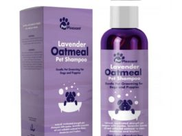 3.Colloidal Oatmeal Dog Shampoo with Pure Lavender Essential Oils - No Tear Shampoo for Dry Itchy Skin Relief - Pet Odor Eliminator - Grooming Shampoo