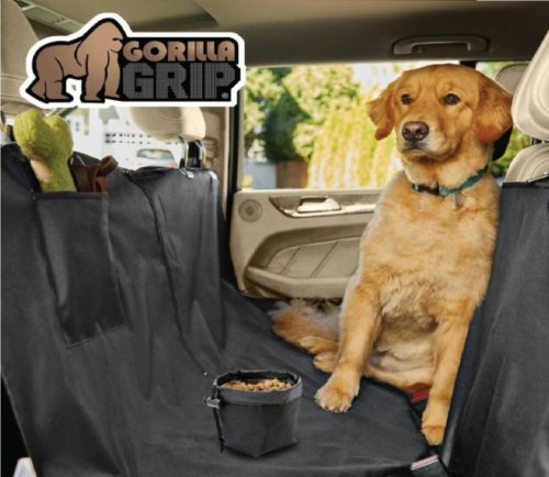 3.Gorilla Grip Original Premium Slip-Resistant Pet Car Seat Protector for Pets, Free Dog Bowl, Durable Protectors for Cars, SUV, Underside Grip, Waterproof,.