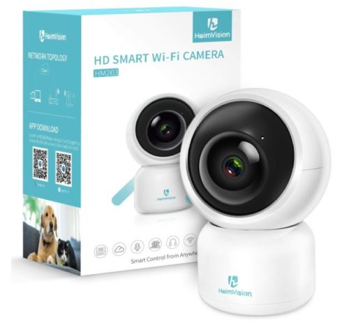 3.heimvision HM203 1080P Security Camera with Smart Night Vision Ptz Two-Way Audio, 2.4GHz Wireless Home Surveillance IP Camera for Baby Elder Pet Nanny...