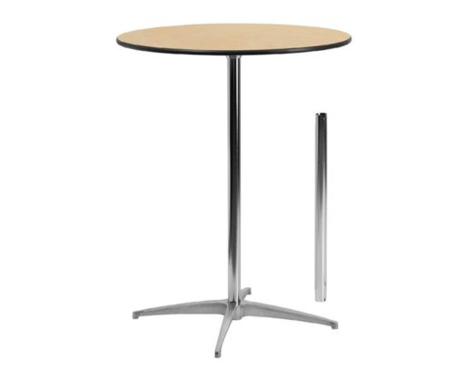 4.Flash Furniture 30'' Round Wood Cocktail Table with 30 and 42 Columns