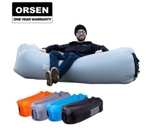 4.ORSEN Inflatable Lounger Portable Hammock Air Sofa with Water Proof,Anti-Air Leaking Design,Ideal Inflatable Couch and Beach Chair Camping Accessories for