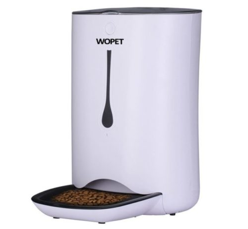 4.WOPET 7L Automatic Pet Feeder Food Dispenser for Cats and Dogs-Features Distribution Alarms, Portion Control, Voice Recorder, Programmable Timer for up to.
