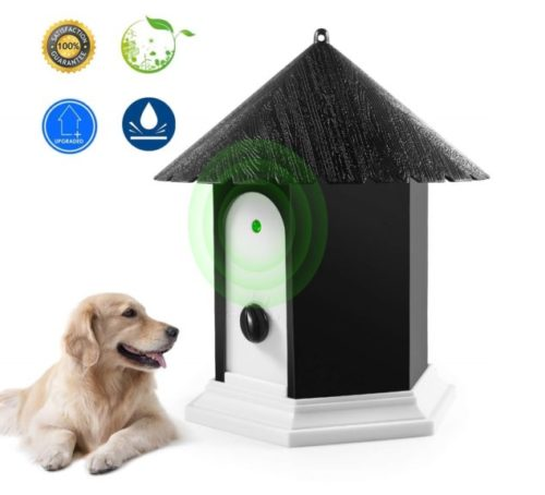 5.Anti Barking Device, Ultrasonic Barking Control Device, Waterproof Outdoor Anti Bark Deterrents in Birdhouse Shape