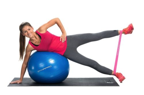 5.DYNAPRO Exercise Ball - 2,000 lbs Stability Ball - Professional Grade - Anti Burst Exercise Equipment for Home, Balance, Gym, Core Strength, Yoga, Fitness