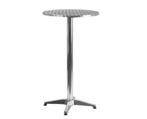 5.Flash Furniture 23.25'' Round Aluminum Indoor-Outdoor Folding Bar Height Table with Base - TLH-059A-GG