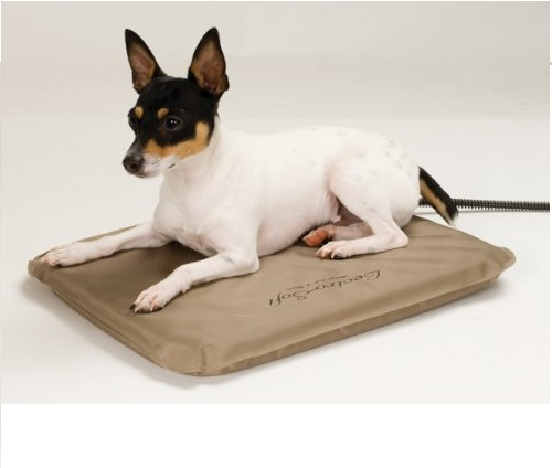 5.K&H Pet Products Lectro-Soft Outdoor Heated Pet Bed Large Tan 25 x 36 60W