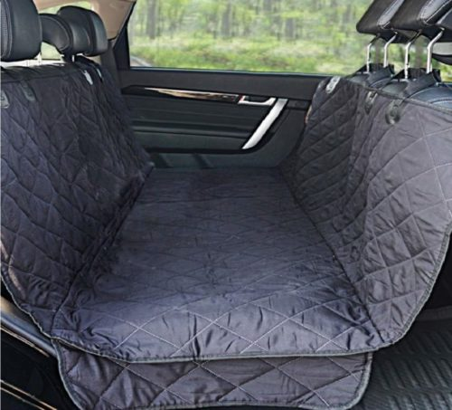 5.Winner Outfitters Dog Car Seat Covers,Dog Seat Cover Pet Seat Cover For Cars, Trucks, And Suv - Black, 100% Waterproof, Hammock Convertible