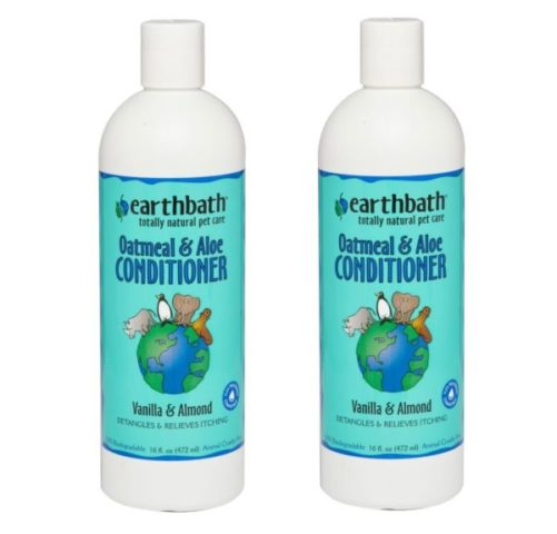 6.Earthbath All Natural Oatmeal and Aloe Dog Cat Moisturising Conditioner 16 ounce (2 Pack)