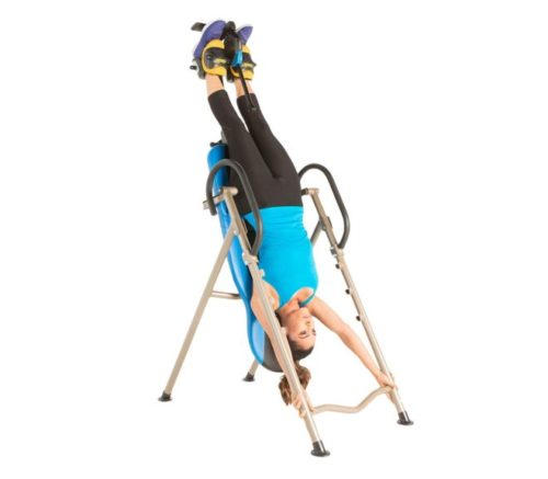 6.Exerpeutic 225SL Inversion Table with Airsoft No Pinch Ankle Holders, 'SURELOCK' Safety Ratchet System, and Lumbar Support