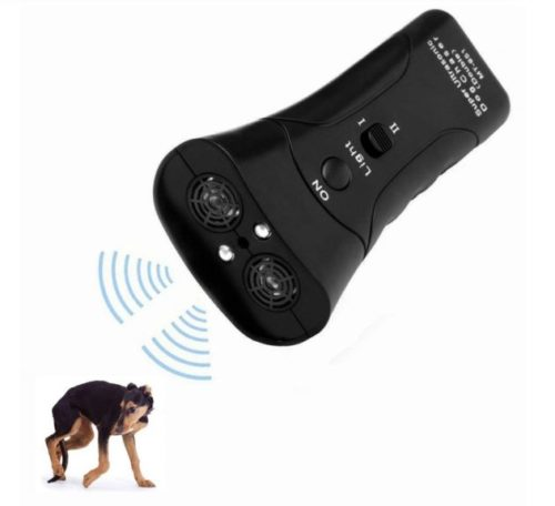 6.LAKA Ultrasonic Dog Repeller,Dog Bark Control Device,Anti Barking Deterrents Silencer Stop Barking Bark, Electronic Dog Trainner with LED Flashlight