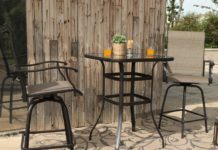 6.PHI VILLA Bar Height Bistro Table Outdoor Bar Table