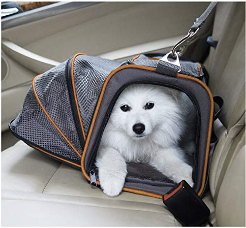 6.Petpeppy.com The Original Airline Approved Expandable Pet Carrier by Pet Peppy- Two Side Expansion, Designed for Cats, Dogs, Kittens,Puppies - Extra