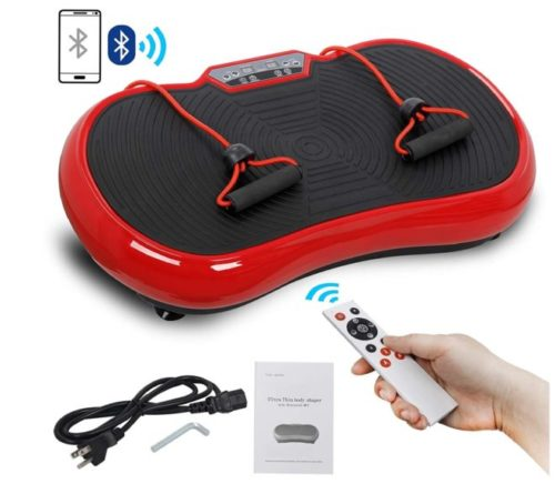 6.SUPER DEAL Crazy Work Out Fit Full Body Vibration Platform Massage Machine Fitness W Bluetooth Red