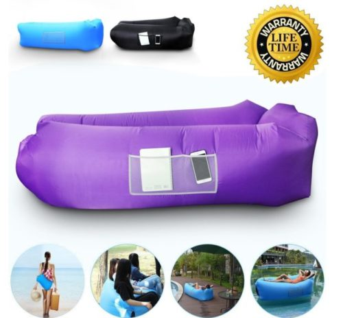 7.Anglink Outdoor Inflatable Lounger Couch, Thick Durable Comfortable, Air Sofa Blow Up Lounge Sofa with Carrying Bag for Travelling, Camping, Hiking, Park,...