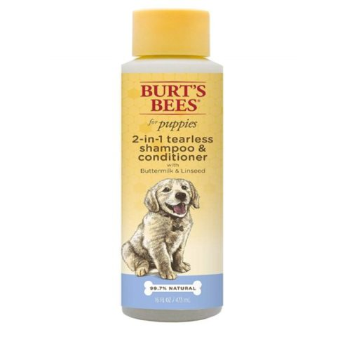 7.Burt's Bees for Puppies Tearless 2 in 1 Shampoo and Conditioner with Buttermilk and Linseed Oil Dog Shampoo, 16 Ounces