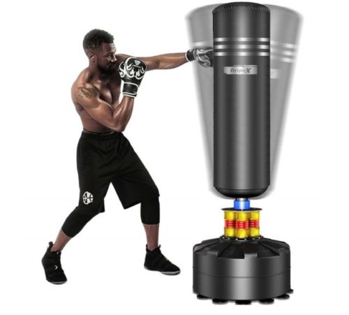 7.Dripex Freestanding Punching Bag 69''- 182lb Heavy Boxing Bag with Suction Cup Base for Adult Youth - Men Stand Kickboxing Bags Kick Punch Bag Black