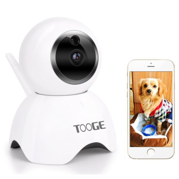 7.TOOGE Pet Camera, Dog Camera FHD Pet Monitor Indoor Cat Camera Night Vision 2 Way Audio and Motion Detection(Updated)