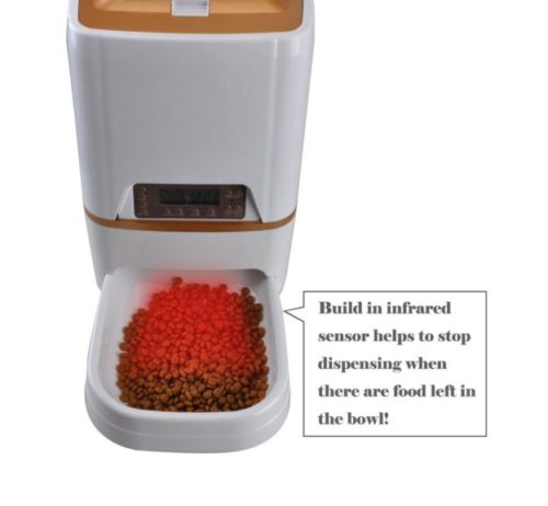7.WESTLINK 6L Automatic Pet Feeder Food Dispenser for Cat Dog with Voice Recorder and Timer Programmable