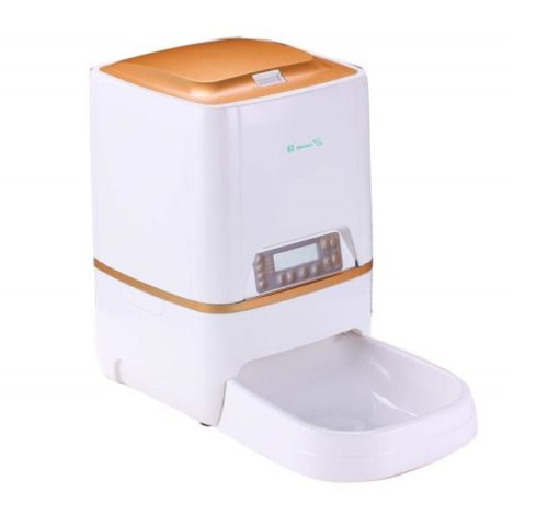 8.BELOPEZZ 6L Smart Pet Automatic Feeders for Dog and Cat Food Dispenser with Timer Programmable Up to 4 Meals a Day