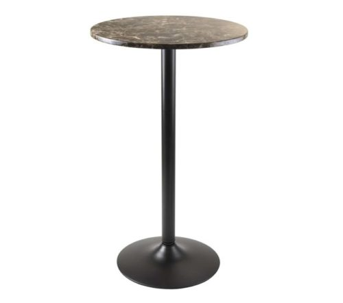 8.Winsome Wood 76124 Cora Dining, Black Faux Marble