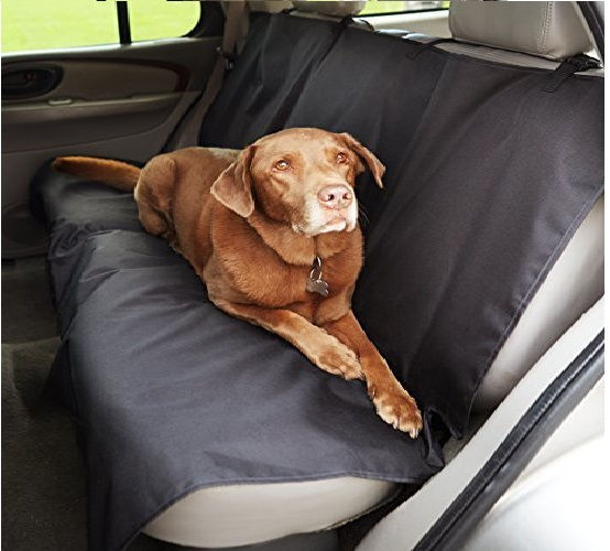 9.AmazonBasics Waterproof Car Back Bench Seat Cover Protector for Pets - 56 x 47, Black