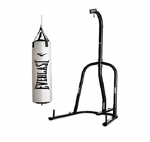 9.Everlast Single Station Heavy Bag Stand with Heavy Bag Kit (80)