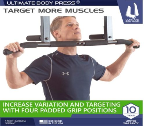 9.Joist Mount Pull Up Bar by Ultimate Body Press