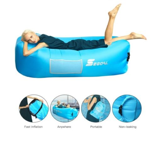9.SEGOAL Inflatable Couch Air Sofa Inflatable Lounger Pouch Hammock Air Chair with Pillow Portable Waterproof Anti-Air Leaking for Outdoor Camping Hiking