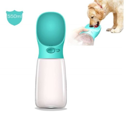 9.Upgraded Bigger Capacity MalsiPree Dog Water Bottle, Leak Proof Portable Puppy Water Dispenser with Drinking Feeder for Pets Outdoor Walking, Hiking
