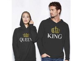 1.King & Queen Matching Couple Hoodie Set His & Hers Hoodies