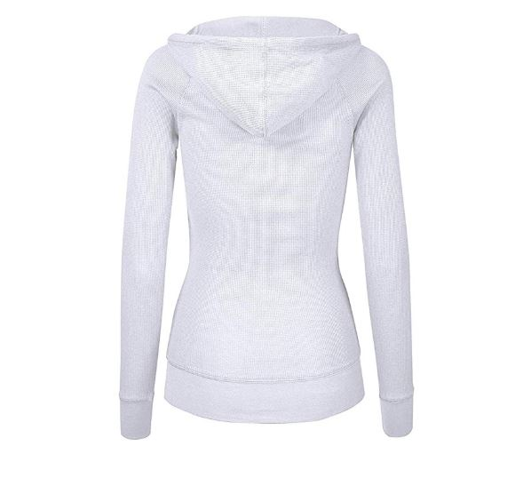 10.OLLIE ARNES Women's Thermal Long Hoodie Zip Up Jacket Sweater Tops