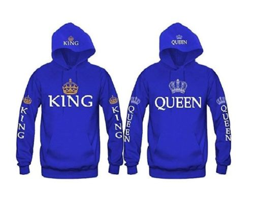 12.King & Queen Matching Couple Hoodie Set His & Hers Hoodies