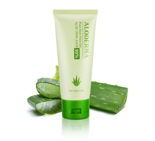 13.Aloderma Pure Aloe Vera Gel - Soothes and Hydrates Dry, Itchy, or Irritated Skin; great for Acne, Dandruff, Sunburn, Rashes (45g)