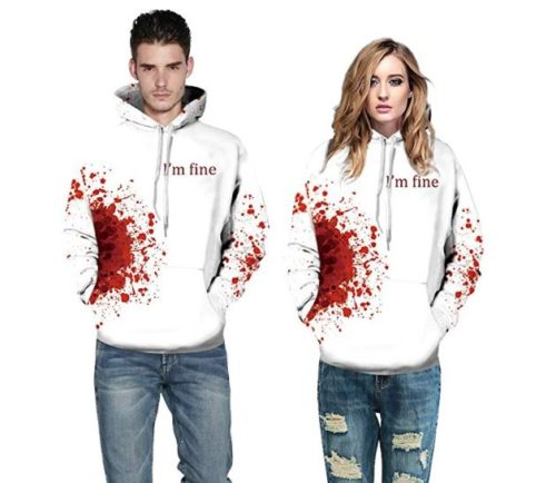 13.Auwer Halloween Hoodies All Souls Day 3D Funny Print Jumper Sweaters Couple Punk Skull Top Streetwear
