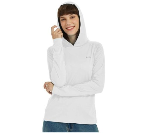 13.Willit Women's UPF 50+ Sun Protection Hoodie T-Shirt Long Sleeve SPF Shirt