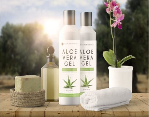 3..Aloe Vera Gel from Freshly Cut Organic Pure Aloe Plant by Kate Blanc. Great for Hair and Face. Relieves Sunburn, Dry Scalp, Irritated Skin with No Sticky Residue. DIY Hand Sanitizers (8 oz)