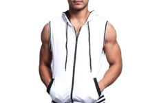 3.Victorious Lightweight Sleeveless Contrast Hoodie