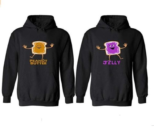 5.Peanut Butter & Jelly - Matching Couple Hoodies - His and Her Love Sweaters