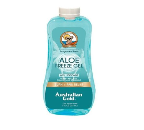 6.Australian Gold Aloe Vera Freeze Spray Gel with Lidocaine, Relieves Sunburn Pain and Hot & Itchy Skin, 8 Ounce