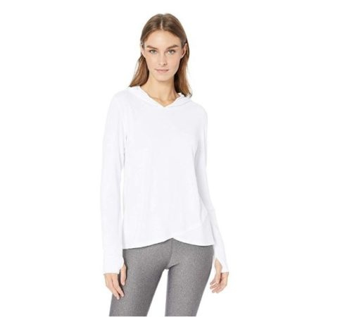 7.Amazon Essentials Women's Studio Long-Sleeve Cross-Front Hoodie